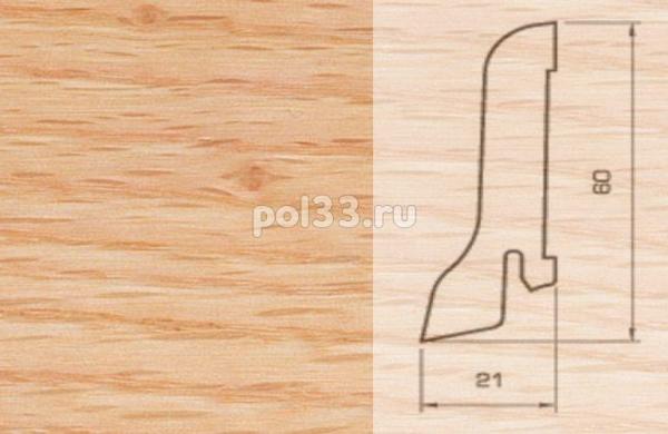 Плинтуса и пороги Pedross Шпонированный 60/22мм Дуб красный