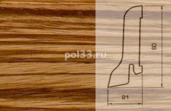 Плинтуса и пороги Pedross Шпонированный 60/22мм Зебрано