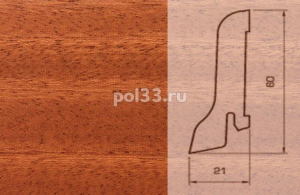 Плинтуса и пороги Pedross Шпонированный 60/22мм Махагон