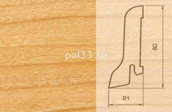 Плинтуса и пороги Pedross Шпонированный 60/22мм Ольха