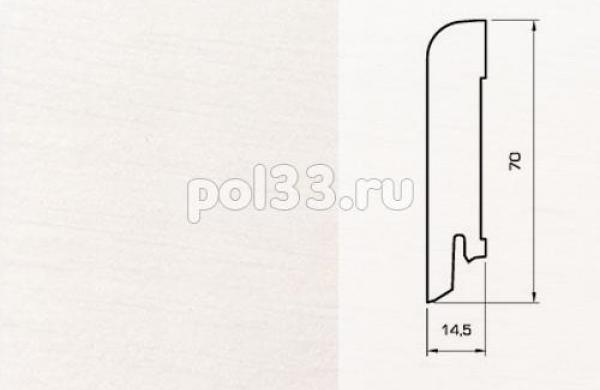 Плинтуса и пороги Pedross Шпонированный 70/15мм Белый гладкий