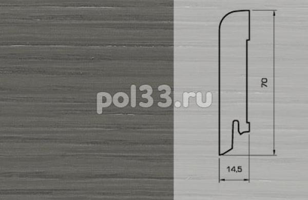 Плинтуса и пороги Pedross Шпонированный 70/15мм Дуб Грей