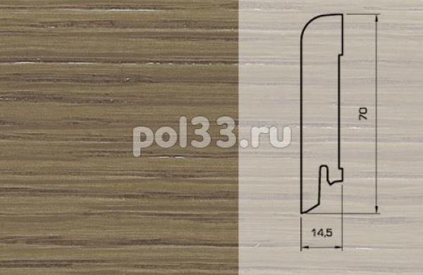 Плинтуса и пороги Pedross Шпонированный 70/15мм Дуб коричневый