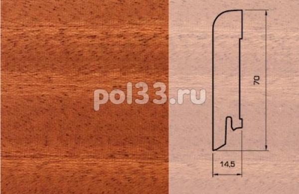 Плинтуса и пороги Pedross Шпонированный 70/15мм Махагон