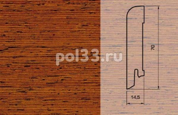Плинтуса и пороги Pedross Шпонированный 70/15мм Мербау