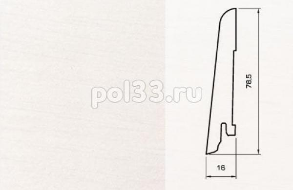 Плинтуса и пороги Pedross Шпонированный 80/16мм Белый гладкий