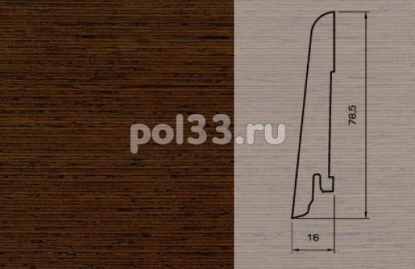 Плинтуса и пороги Pedross Шпонированный 80/16мм Венге