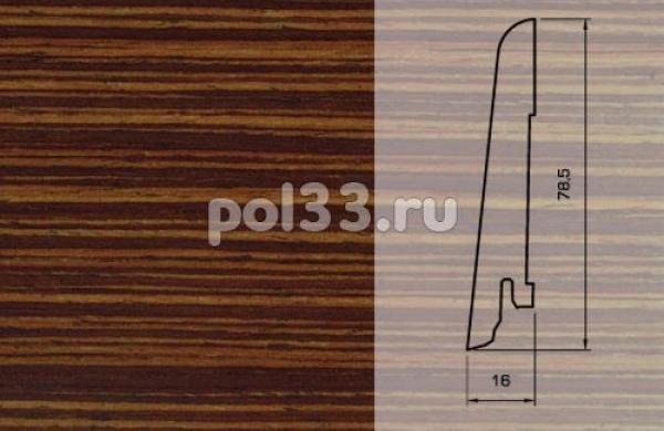 Плинтуса и пороги Pedross Шпонированный 80/16мм Венге полосатый
