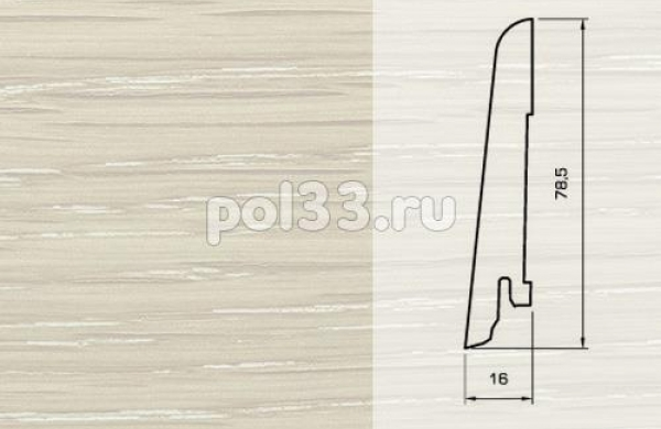 Плинтуса и пороги Pedross Шпонированный 80/16мм Дуб Арктика