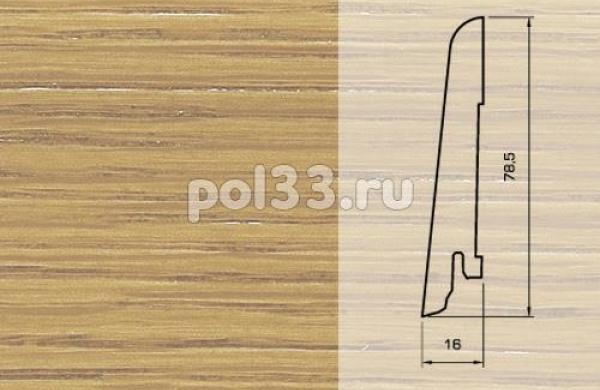 Плинтуса и пороги Pedross Шпонированный 80/16мм Дуб без покрытия