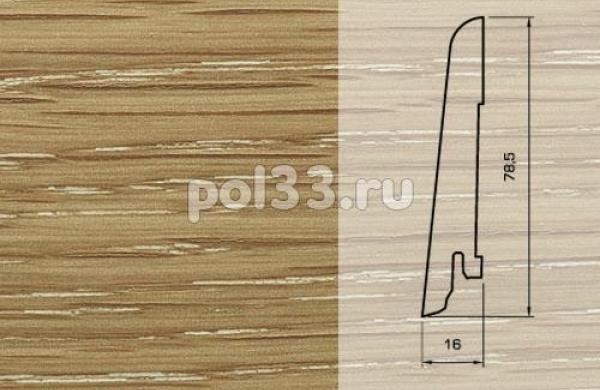 Плинтуса и пороги Pedross Шпонированный 80/16мм Дуб затертый под белым маслом