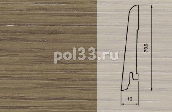 Плинтуса и пороги Pedross Шпонированный 80/16мм Дуб коричневый