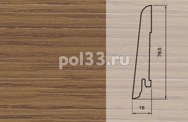 Плинтуса и пороги Pedross Шпонированный 80/16мм Дуб Эстрелла
