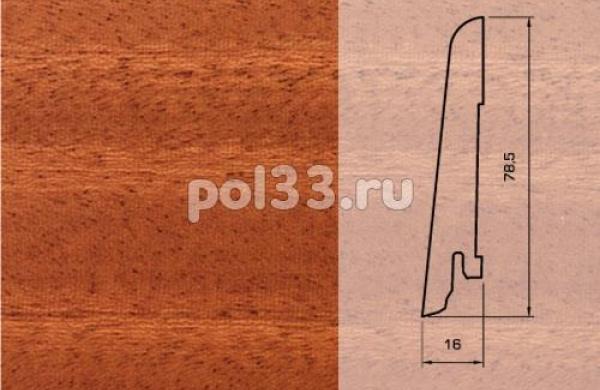 Плинтуса и пороги Pedross Шпонированный 80/16мм Махагон