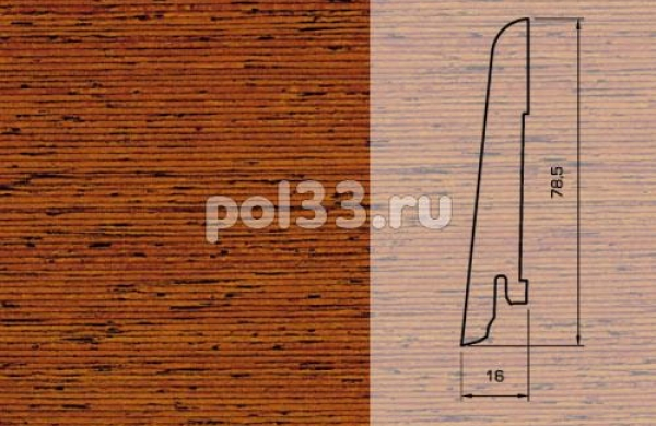 Плинтуса и пороги Pedross Шпонированный 80/16мм Мербау