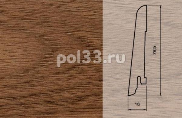 Плинтуса и пороги Pedross Шпонированный 80/16мм Орех