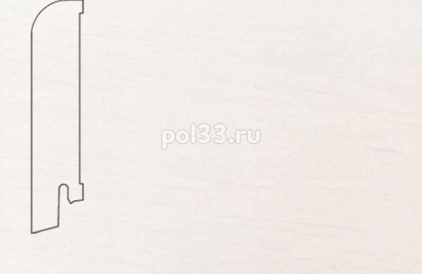 Плинтуса и пороги Pedross Шпонированный 80/18мм Белый гладкий