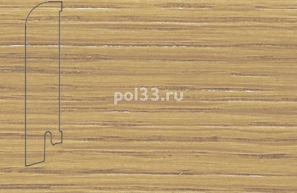 Плинтуса и пороги Pedross Шпонированный 80/18мм Дуб без покрытия