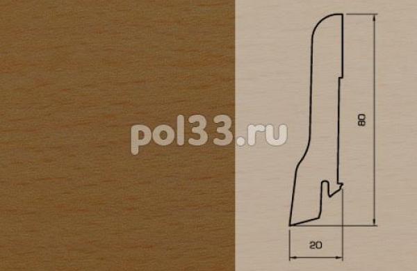 Плинтуса и пороги Pedross Шпонированный 80/20мм Бук коричневый