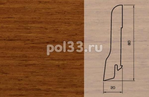 Плинтуса и пороги Pedross Шпонированный 80/20мм Дусси