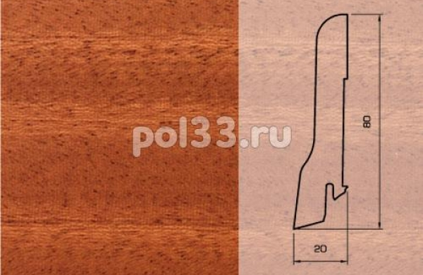 Плинтуса и пороги Pedross Шпонированный 80/20мм Махагон