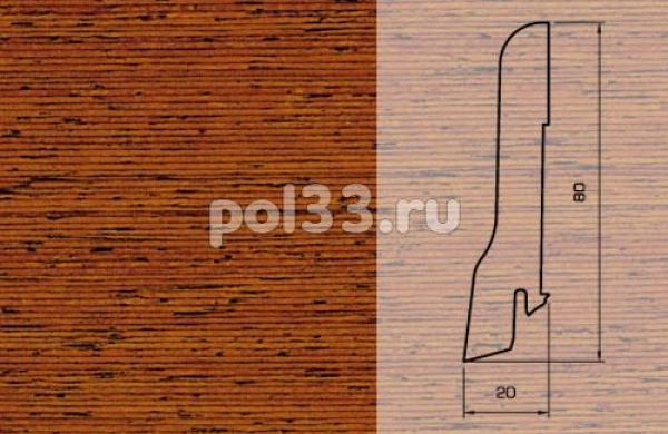 Плинтуса и пороги Pedross Шпонированный 80/20мм Мербау
