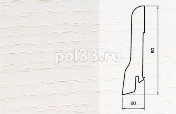 Плинтуса и пороги Pedross Шпонированный 80/20мм Ясень беленый