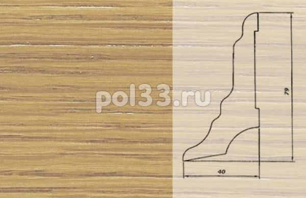 Плинтуса и пороги Pedross Шпонированный 80/40мм Дуб без покрытия