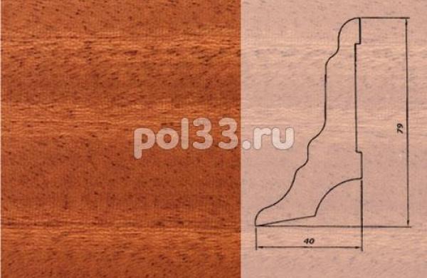 Плинтуса и пороги Pedross Шпонированный 80/40мм Махагон