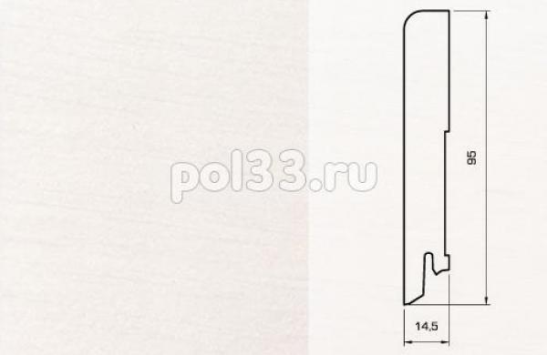 Плинтуса и пороги Pedross Шпонированный 95/15мм Белый гладкий seg100