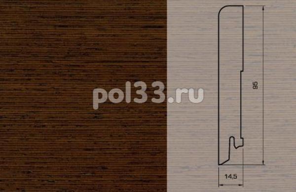 Плинтуса и пороги Pedross Шпонированный 95/15мм Венге seg100