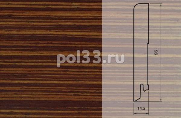 Плинтуса и пороги Pedross Шпонированный 95/15мм Венге полосатый seg100