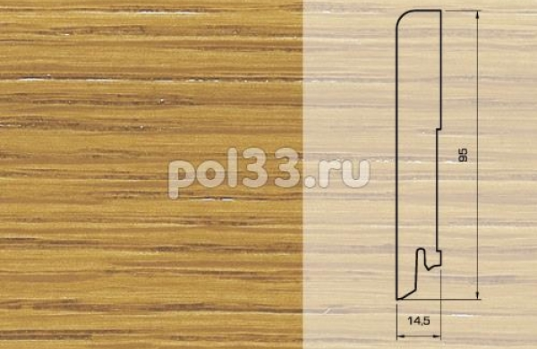 Плинтуса и пороги Pedross Шпонированный 95/15мм Дуб seg100
