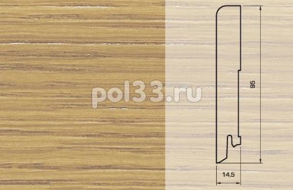 Плинтуса и пороги Pedross Шпонированный 95/15мм Дуб без покрытия seg100