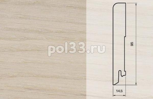 Плинтуса и пороги Pedross Шпонированный 95/15мм Дуб беленый seg100