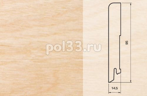 Плинтуса и пороги Pedross Шпонированный 95/15мм Клен seg100