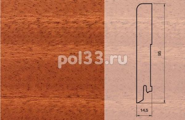 Плинтуса и пороги Pedross Шпонированный 95/15мм Махагон