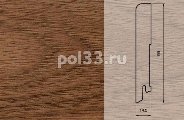 Плинтуса и пороги Pedross Шпонированный 95/15мм Орех