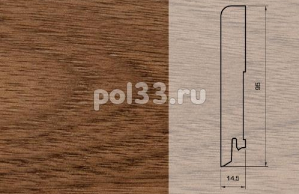 Плинтуса и пороги Pedross Шпонированный 95/15мм Орех seg100