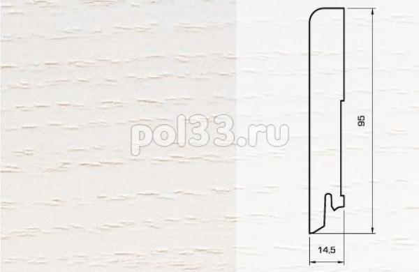 Плинтуса и пороги Pedross Шпонированный 95/15мм Ясень беленый seg100