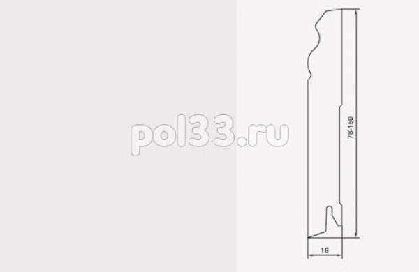 Плинтуса и пороги Pedross коллекция White MDF 100 mm 5535
