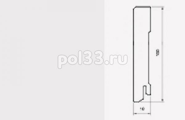 Плинтуса и пороги Pedross коллекция White MDF 100 mm 5913