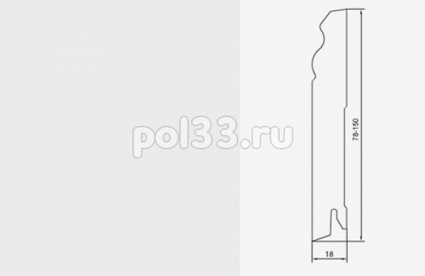 Плинтуса и пороги Pedross коллекция White MDF 140 mm 6203