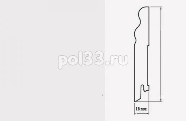 Плинтуса и пороги Pedross коллекция White MDF 78 mm 6339