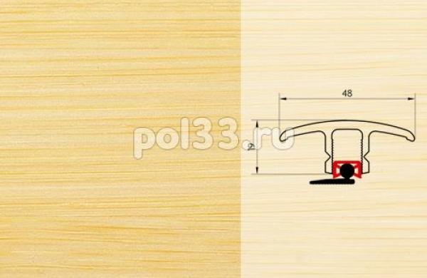 Плинтуса и пороги Pedross Молдинг шпонированный универсальный Бамбук светлый