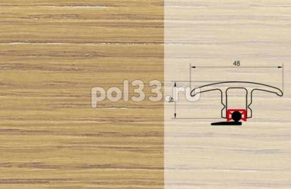 Плинтуса и пороги Pedross Молдинг шпонированный универсальный Дуб без покрытия