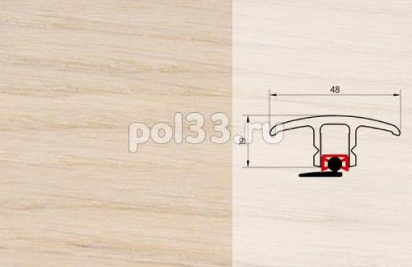 Плинтуса и пороги Pedross Молдинг шпонированный универсальный Дуб белое масло