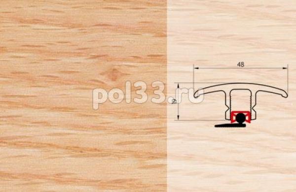 Плинтуса и пороги Pedross Молдинг шпонированный универсальный Дуб красный