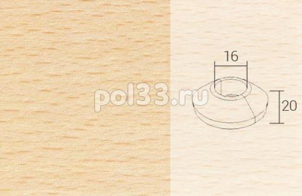 Плинтуса и пороги Pedross Кольцо массивное 16x20 Бук