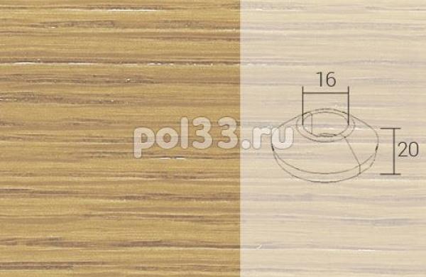 Плинтуса и пороги Pedross Кольцо массивное 16x20 Дуб без покрытия